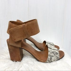 Enzo Angiolini Gwindell Block Heel Leather Sandals